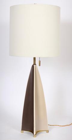 Gerald Thurston Substantial Gerald Thurston Lightolier Porcelain Fin Table Lamp 1950s - 1603728