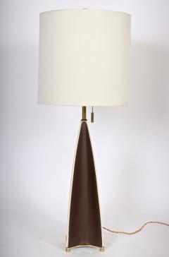 Gerald Thurston Substantial Gerald Thurston Lightolier Porcelain Fin Table Lamp 1950s - 1603737