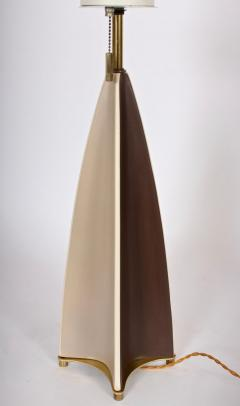 Gerald Thurston Substantial Gerald Thurston Lightolier Porcelain Fin Table Lamp 1950s - 1603743