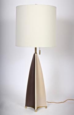 Gerald Thurston Substantial Gerald Thurston Lightolier Porcelain Fin Table Lamp 1950s - 1603752