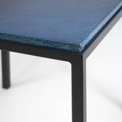 Gerard Simo n BLUE GLAZED CERAMIC SIDE TABLE 41 - 2100036