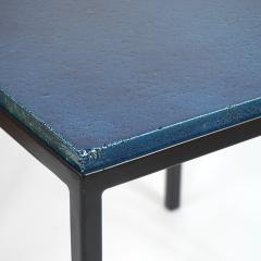 Gerard Simo n BLUE GLAZED CERAMIC SIDE TABLE 41 - 2100037