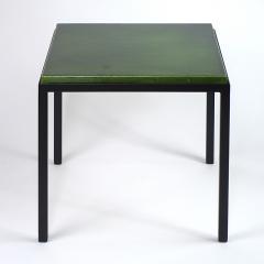 Gerard Simo n GREEN GLAZED CERAMIC SIDE TABLE 41 - 2100028
