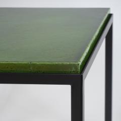 Gerard Simo n GREEN GLAZED CERAMIC SIDE TABLE 41 - 2100029