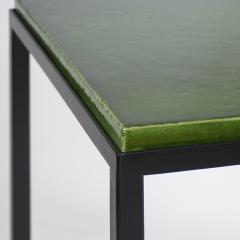 Gerard Simo n GREEN GLAZED CERAMIC SIDE TABLE 41 - 2100031