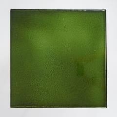 Gerard Simo n GREEN GLAZED CERAMIC SIDE TABLE 41 - 2100032