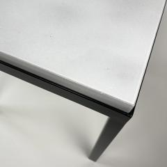 Gerard Simo n PAIR OF WHITE GLAZED LAVA STONE SIDE TABLES - 1957584