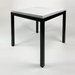 Gerard Simo n PAIR OF WHITE GLAZED LAVA STONE SIDE TABLES - 1957585