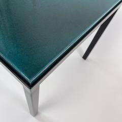 Gerard Simo n TURQUOISE GLAZED LAVA STONE SIDE TABLE - 1957649