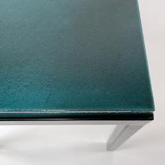 Gerard Simo n TURQUOISE GLAZED LAVA STONE SIDE TABLE - 1957652