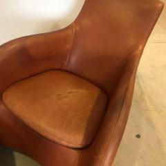 Gerard van den Berg Dutch 1990s Montis Leather Lounge Chair and Ottoman - 1317719