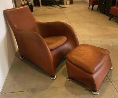 Gerard van den Berg Dutch 1990s Montis Leather Lounge Chair and Ottoman - 1317726