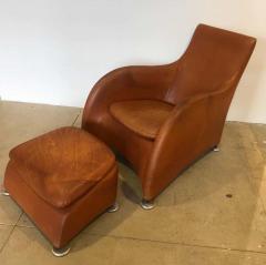 Gerard van den Berg Dutch 1990s Montis Leather Lounge Chair and Ottoman - 1317728