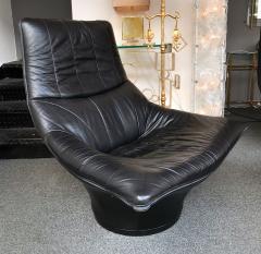 Gerard van den Berg Pair of Leather Lounge Armchairs by Gerard Van Den Berg Netherlands 1980s - 622746
