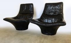 Gerard van den Berg Pair of Lounge Arm Chairs by Gerard van den Berg Model Mantis  - 1060365
