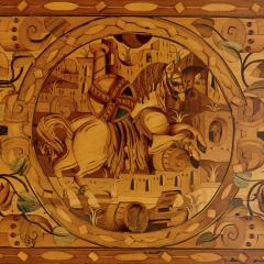 German Baroque centre table with marquetry inlays - 1577209