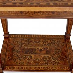 German Baroque centre table with marquetry inlays - 1577216