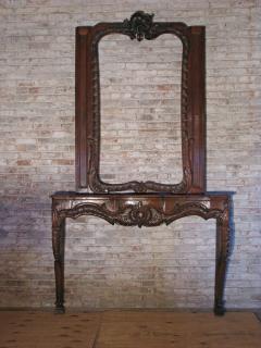 German Louis XV 18th century Rococo Fireplace Mantel - 655737