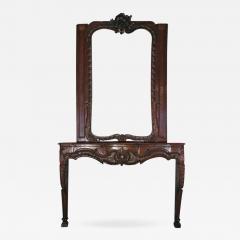 German Louis XV 18th century Rococo Fireplace Mantel - 656969