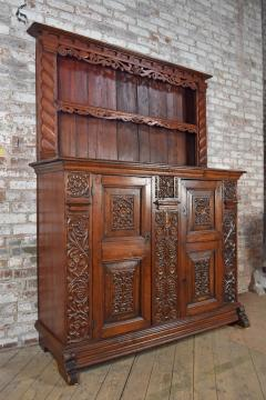 German Lower Rhine 18th Century Carved Pine Cabinet with Dish Rack - 1300556