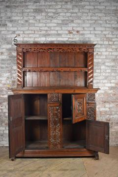 German Lower Rhine 18th Century Carved Pine Cabinet with Dish Rack - 1300559