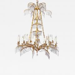 German Neoclassic Ormolu and Cut Glass Twenty Four Light Chandelier circa 1795 - 2053177