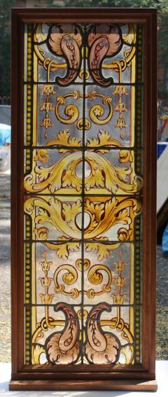 German Renaissance Revival Style Stained Glass Window