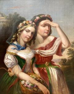 German School Bavarian Flower Girls  - 1864807