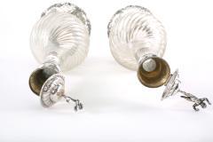 German Silver Mounted Cut Glass Pair Claret Jugs - 1948859