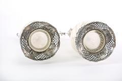 German Silver Mounted Cut Glass Pair Claret Jugs - 1948889