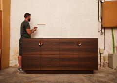 Germano Marchetti Tramonto Smoked Eucalyptus and Etimoe Wood Sideboard - 1263624