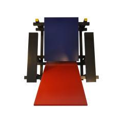 Gerrit Rietveld Gerrit Rietveld Armchair model 635 Red Blue for Cassina in Wood - 1757743