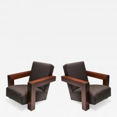 Gerrit Rietveld Rietvelds Utrecht Chair with Wooden Frame 1960s - 1586303