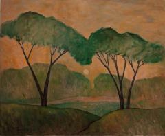 Gershon Benjamin Summer Landscape Riverside Drive  - 920995