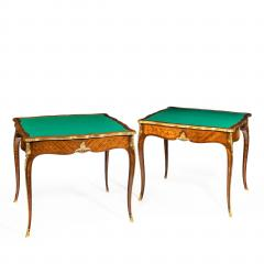 Gervais Durand Pair of kingwood card tables by G Durand - 754488