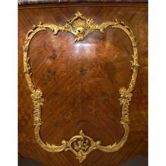 Gervais Maximilien Eug ne Durand Louis XV Style Gilt Bronze Mounted Kingwood Marble Top Commode - 1990615