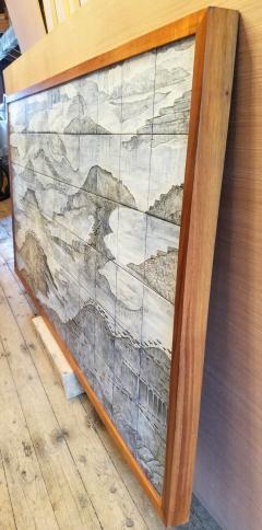 Geza St Galy Gela St Galy Dawn of Civilization Ceramic Tile Panel Carmel CA Circa 1978 - 1297595