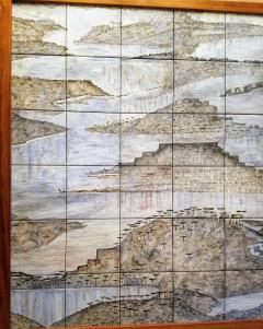 Geza St Galy Gela St Galy Dawn of Civilization Ceramic Tile Panel Carmel CA Circa 1978 - 1297598