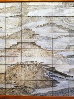 Geza St Galy Gela St Galy Dawn of Civilization Ceramic Tile Panel Carmel CA Circa 1978 - 1297599