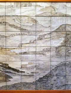Geza St Galy Gela St Galy Dawn of Civilization Ceramic Tile Panel Carmel CA Circa 1978 - 1297600