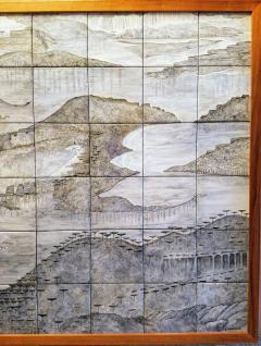 Geza St Galy Gela St Galy Dawn of Civilization Ceramic Tile Panel Carmel CA Circa 1978 - 1297602