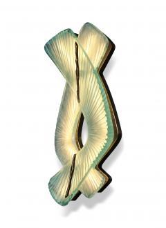 Ghir Studio Pair of Studio Made Carved Sconces by Ghir Studio - 831314
