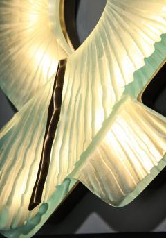 Ghir Studio Pair of Studio Made Carved Sconces by Ghir Studio - 831317