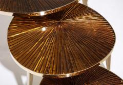 Ghir Studio Tris Gold Nest of Tables by Ghir Studio - 1459314
