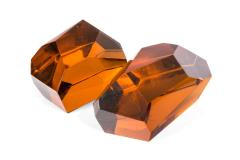 Ghiro Handcrafted and Signed Faceted Crystal Glass Sculptures - 1256722