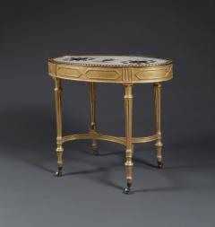 Giacomo Raffaelli A Giltwood Center Table With Marble Top Attributed To Giacomo Raffaelli - 326566