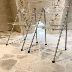 Giancarlo Piretti Modern Lucite Chrome Folding Chairs Giancarlo Piretti for Castelli 1960s ITALY - 2083090