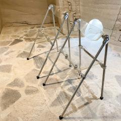 Giancarlo Piretti Modern Lucite Chrome Folding Chairs Giancarlo Piretti for Castelli 1960s ITALY - 2083091