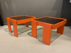 Gianfranco Frattini 1970s Gianfranco Frattini Laminated Nesting Tables Cassina Italy - 1556974
