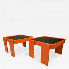 Gianfranco Frattini 1970s Gianfranco Frattini Laminated Nesting Tables Cassina Italy - 1558143